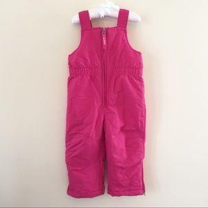 L.L. Bean Bright Pink Snow Pants Bib Overalls 2T